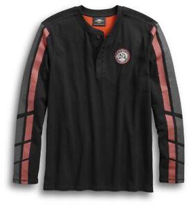 Harley-Davidson Men/'s Eagle Piston Long Sleeve Crew Shirt Black 30299947