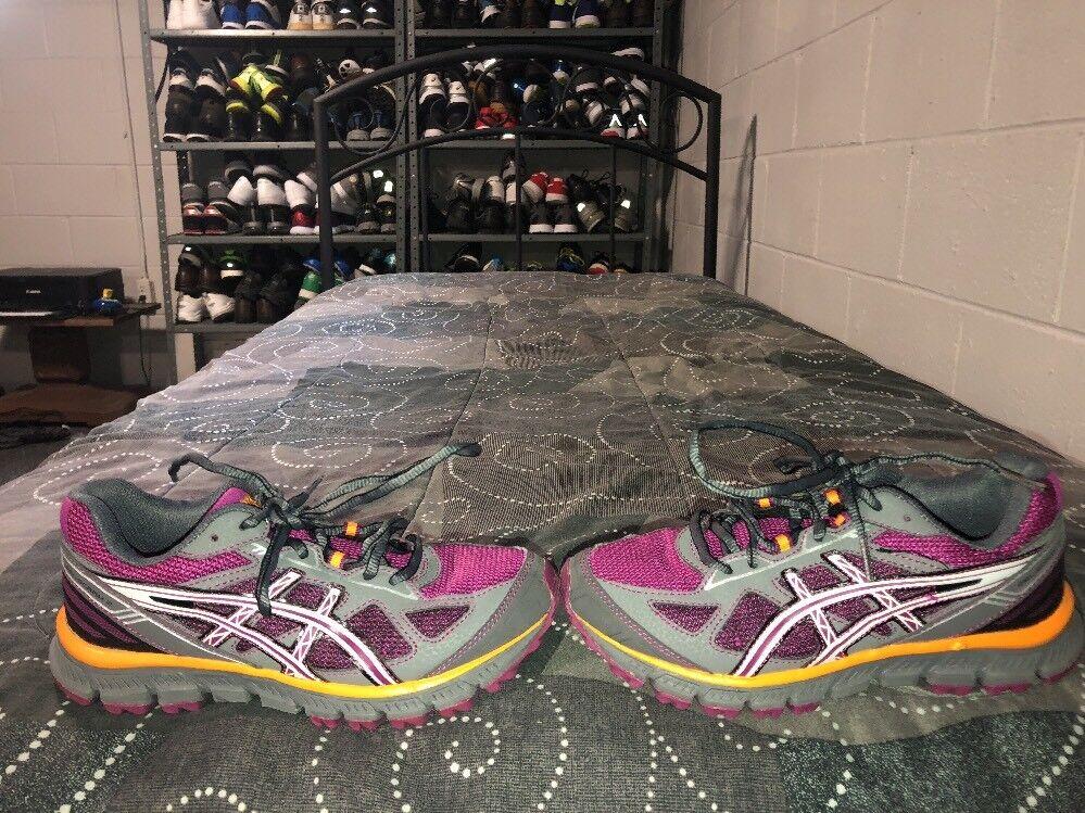 Asics Gel Scram 2 Womens Running Training Purple Shoes Size 6 Gray Purple Training Orange T3G7N fc292e