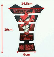 Red Devil Demon Lucifer Motorcycle Tank Pad Tankpad Anti Soul 3D Gel Protector