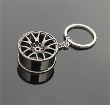 Fashion Gun Black Cool Luxury Metal Alloy Keychain Car Key Chain Wheel Pendant