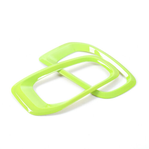 Green Pair ABS Front Fog Light Lamp Frame Cover Trim for Jeep Renegade 2015 2016