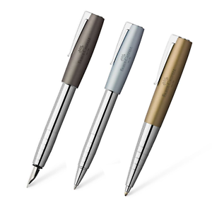d1519731f4 Caricamento dell'immagine in corso Faber-Castell-Loom-Metallic-penna- stilografica-M-roller-
