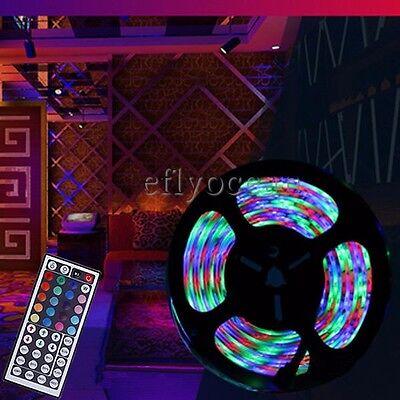 2X5M 3528 SMD 600LEDS RGB Flexible led light strip+ 44 Key IR Remote Controller