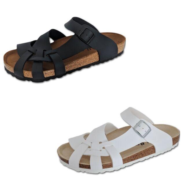 Birkenstock Pisa Womens Sandals Shoes Slippers Birko Flor Slides Thongs Black
