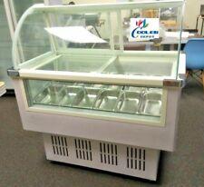 New 46 Ice Cream Gelato Freezer Display Case 12 Pan Included 13 Cu Ft Model F10