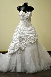 NEW-UK10-KITTYCHEN-DELICIOUS-Wedding-Dress-was-1995-White-Corset-Princess