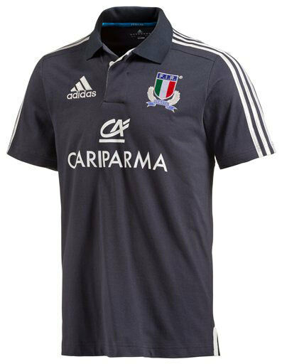 2570 S ADIDAS FIR ITALY RUGBY ITALY SHIRT POLO SHIRT COTTON JERSEY SHIRT