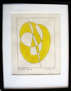 Fine-Art-Original-Abstract-Ink-Drawing-William-Tarr-signed-039-82-Modernism