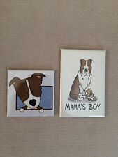 Dog Lover Puppy Refrigerator Fridge Magnets Mama's Boy Brown & White