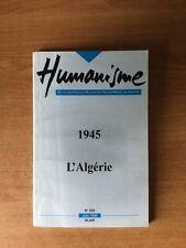 HUMANISME revue des Francs-maçons du grand Orient de France n° 222 : 19