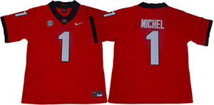 Details about Men's Sony Michel Jersey 1# Georgia Bulldogs College Sewn Football Jersey