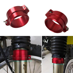 RED-Front-Fork-Dust-Cover-Boot-Holder-Clamp-For-SUZUKI-DR-Z-DRZ-400S-E-2000-2019