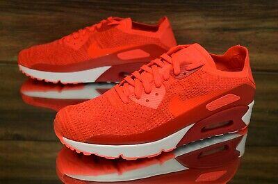Nike Air Max 90 Ultra 2.0 Flyknit Bright Crimson 875943 600 Running Shoes Men's