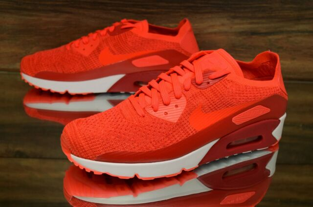Nike Air Max 90 Ultra 2.0 Flyknit Bright Crimson 875943 600 Running Shoes Men's