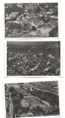 ***5 Alte Postkarten***Luftbildaufnahmen Weimar von oben