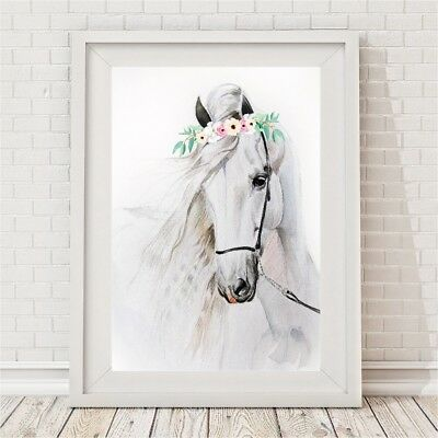 NEW Watercolour Horse Print Girl's by BespokeMoments