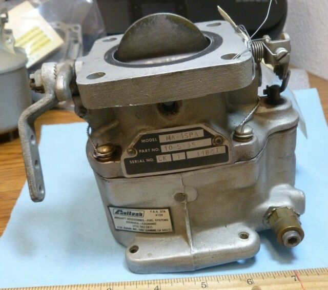 Details About Lycoming MA 4SPA CARBURETOR P N 10 5135 S N 3484T Aircraft