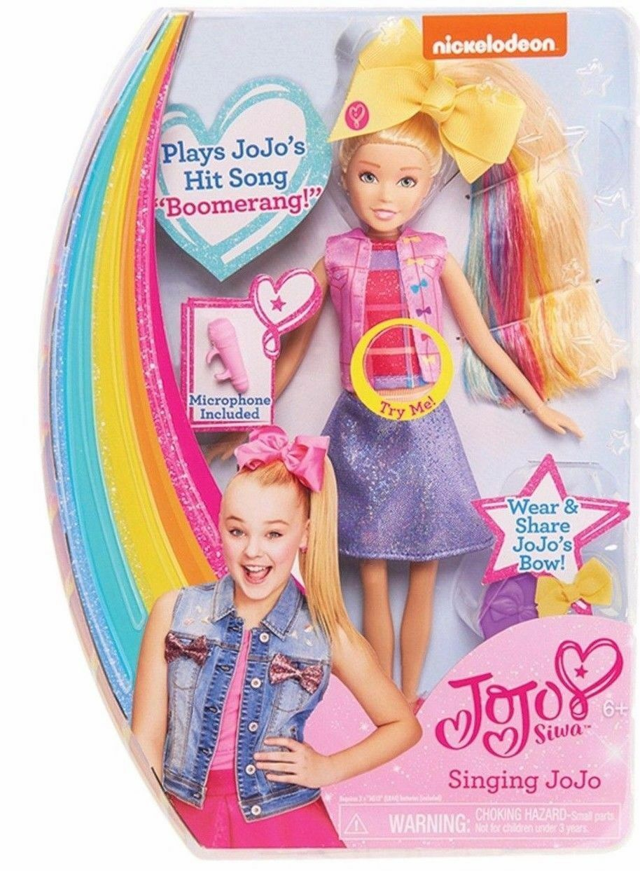 NEW JOJO SIWA SINGING DOLL + MICROPHONE + HAIR BRUSH SINGS BOOMERANG  JO JO