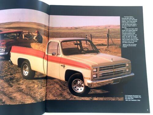 1985 Chevrolet Silverado  C//K Truck Sales Brochure Book