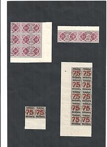 Wuerttemberg-1906-Bogenteile-aus-Michelnrn-Dienst-118-271-X-o-gestempelt-o