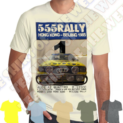 Hong Kong Beijing Rally 1985 Audi A2 Ur Quattro men/'s cotton T-shirt 7 colours