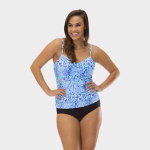 15f09bb2a54 Mazu Swim Drawstring Tankini Top Kara Karma 2 Pc Swim Set Plus Size ...
