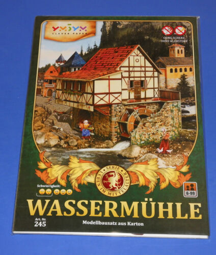 Leben im Mittelalter Wassermühle Modellbausatz