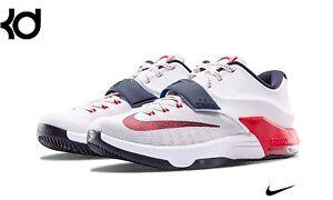 super popular 5d3bb 79ef9 Image is loading Nike-KD-7-VII-USA-White-Obsidian-University-
