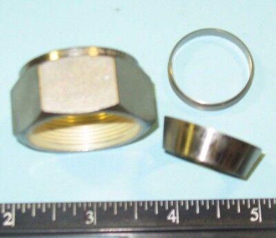 "SWAGELOK 3//4/"" STAINLESS STEEL NUT/& FERRULE SET TUBE FITTING P//N SS-1210-NFSET"