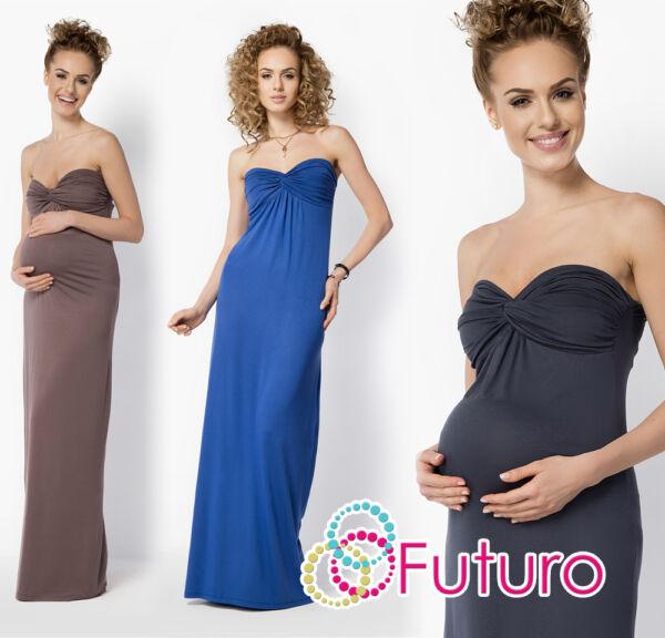 Damen Schwangerschaft Abend Maxi Kleid Bandeau Party Ball Übergrößen 8-18 FM25