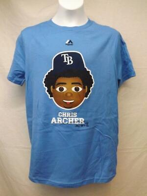 Sport New-minor Fehler Tampa Bay Rays #22 Chris Archer Jugendliche Size 10/12 M Shirt Baseball & Softball