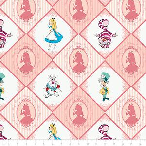 Disney-Alice-in-Wonderland-Always-Curious-Blush-100-cotton-Fabric-by-the-yard