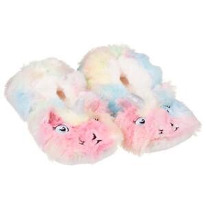 Ladies Multicolour Lounge Socks Footwear Unicorn Style Slipper Fluffy Womens 8YXzAxr8