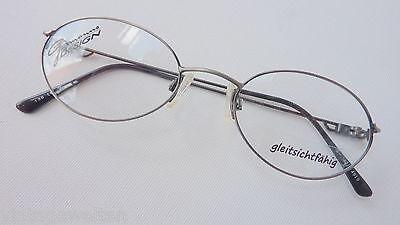 Sonnenbrillen Kleidung & Accessoires Sinnvoll Gormanns Superleichte,dünnrandige Brille,ovale Glasform Antiksilber 49-19 Gr S