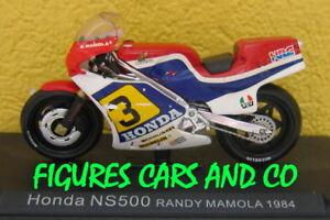 MOTO GP 1/24 N° 47 SERIE 1 HONDA NS 500 1984 RANDY MAMOLA  #3 MOTORCYCLE