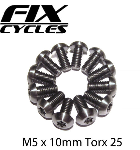 12 x Disc Rotor Bolts Titanium M5 x 10mm