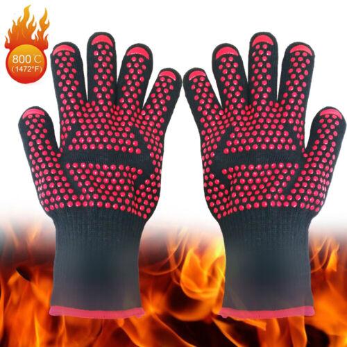 Grillhandschuhe Backhandschuhe Kaminhandschuhe 500-800°C hitzebeständig
