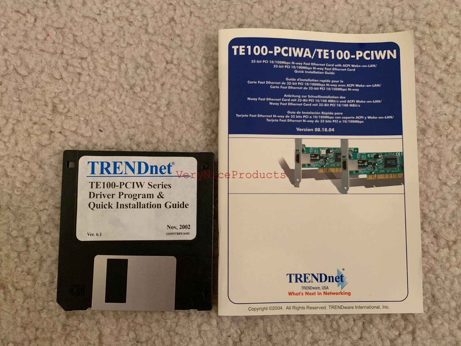 TRENDnet TE100-PCIWN Network Adapter Descargar Controlador