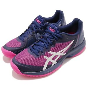 Asics-Gel-Court-Speed-Blue-Pink-White-Women-Tennis-Shoes-Sneakers-E850-N400