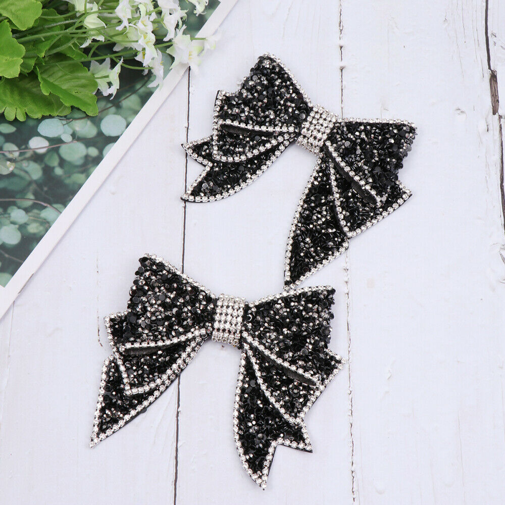1 Pair Exquisite Bowknot Resin Shoe Buckles for Decoration Shoes