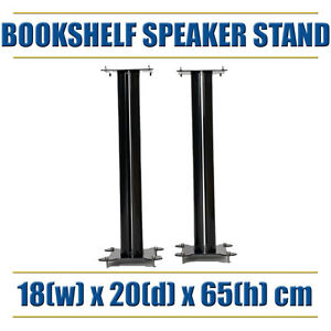Image Is Loading Super Strong BookShelf Speaker Stand Top Bottom Spikes
