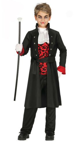 Boys Kids Vampire Count Costume Lord Dracula Fancy Dress Halloween Age 7-12 NEW