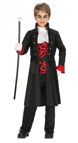 Boys Kids Vampire Count Costume Lord Dracula Fancy Dress Halloween Age 7-12 NEW