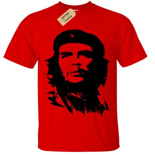 Kinder Jungen Mädchen Che Guevara T-Shirt Retro Siebdruck
