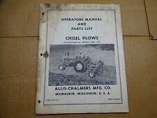 Allis Chalmers Chisel Plow Operators Parts Manual Tpl420b Jeoffroy Mfg