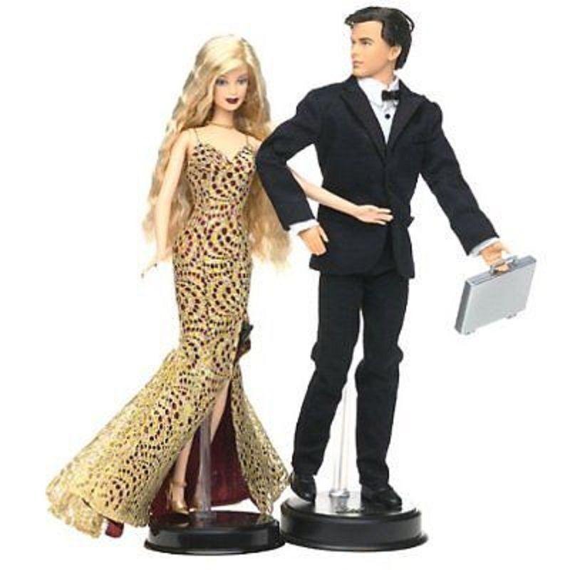 Barbie James Bond 007 Ken Ken Ken and Barbie Gift Set NRFB 2002 545e4a