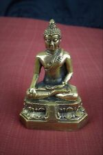 "Brass Shakyamuni Buddha Statue for Dharma in Nepal, Tibet 3"" High"