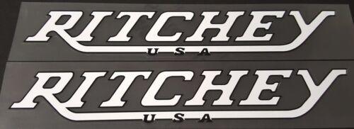 Ritchey USA Down Tube Decals in White//Black sku Ritc105