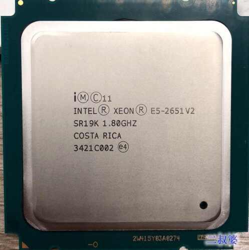 Intel Xeon E5-2651 V2 SR19K 12Core 24Threads 1.80GHz 30MB Socket LGA2011 CPU
