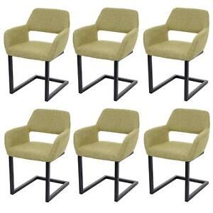 Détails sur 6x Chaise de Salle à Manger MCW-A50 II, Cantilever Chaise,  Tissu, Vert Clair